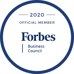2020 Official Member Forbes Business Council badge